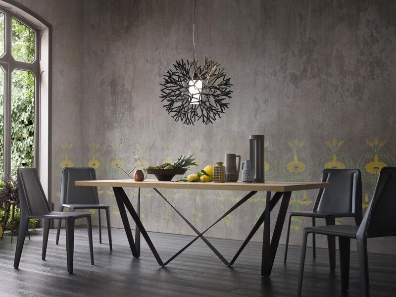 Tendance bois et m tal 4 id es de tables de repas le - Table de salle a manger en bois ...