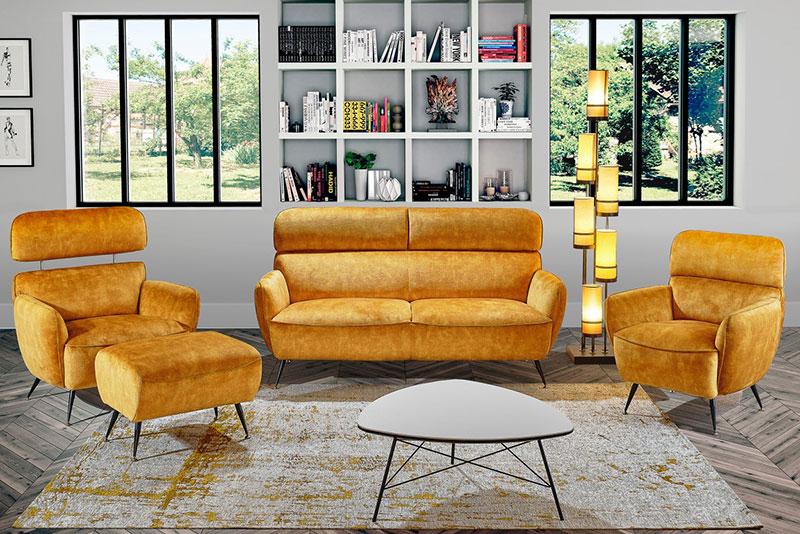 Canapé salon vintage Gabbie