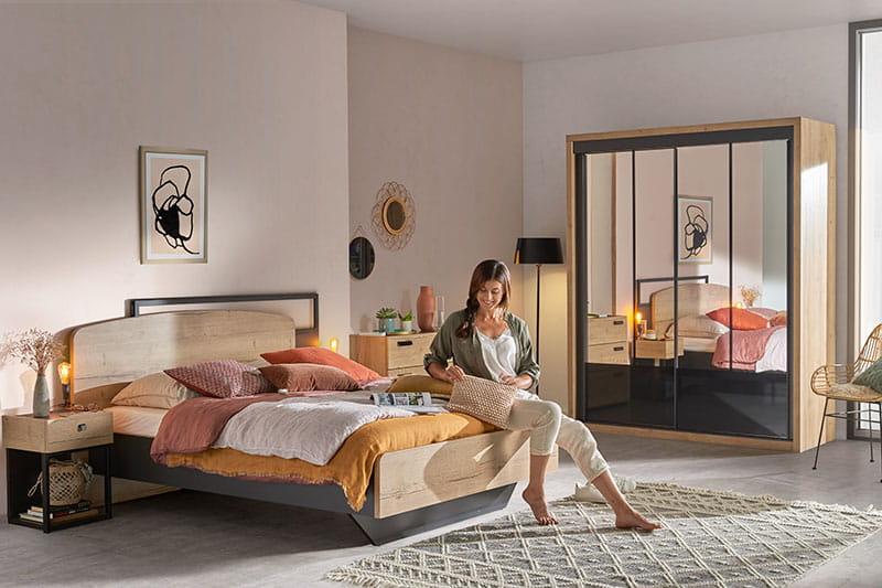 Chambre style indus EIFFEL