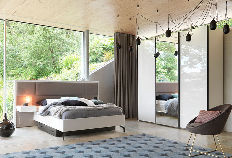 Lit avec tête de lit intégrée Gallery Tendances