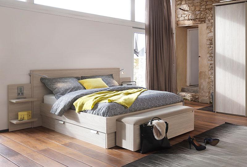 Tête de lit fonctionnelle avec chevet liseuse Gallery Tendances