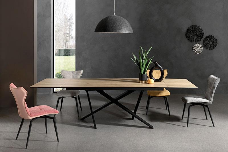 Table en céramique imitation bois Forrest