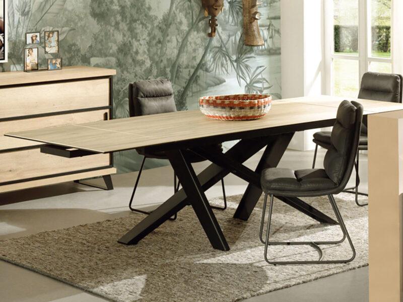 Tables à manger : quand la céramique imite le bois !